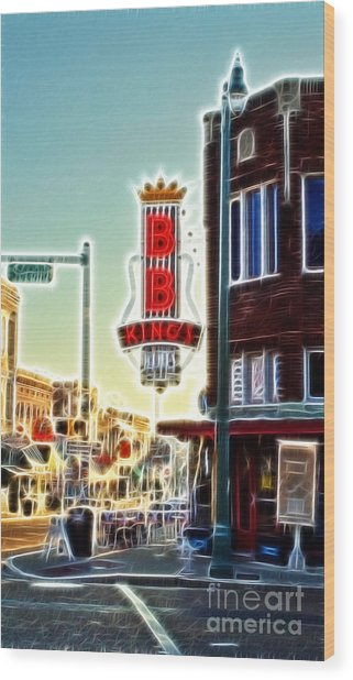 Bb King Club Wood Print