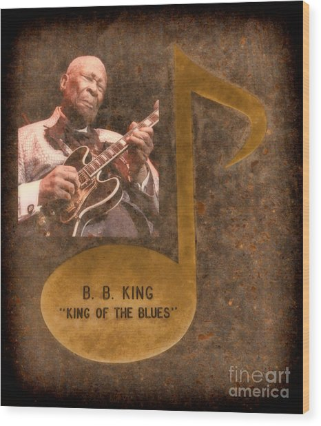 Bb King Note Wood Print