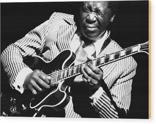 B.b. King - Squeezing Lucille Wood Print