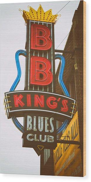 Bb King's Blues Club Wood Print