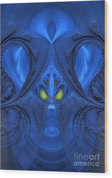 Be Brave - Surrealism Wood Print