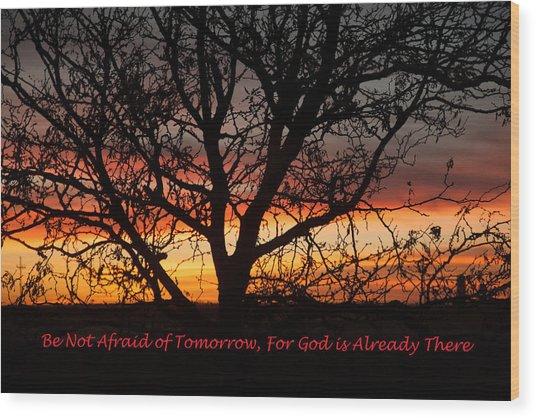 Be Not Afraid Wood Print