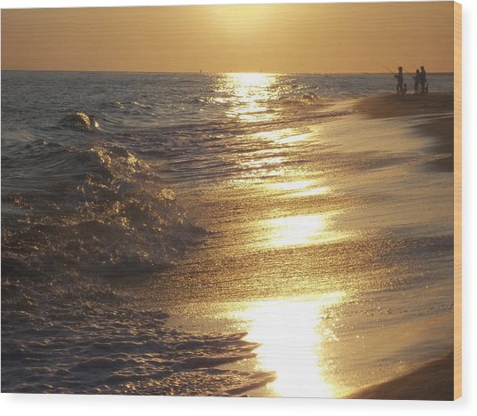 Beach #16 Wood Print