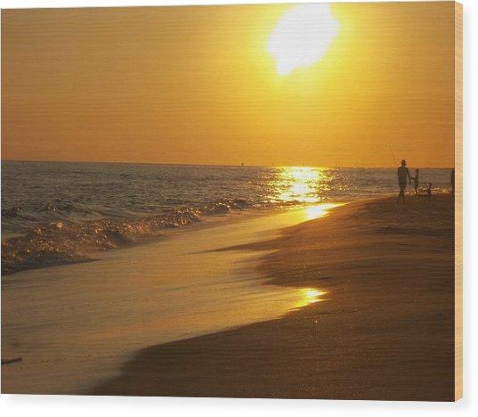 Beach #18 Wood Print