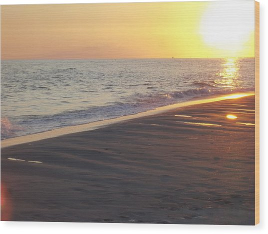 Beach #5 Wood Print