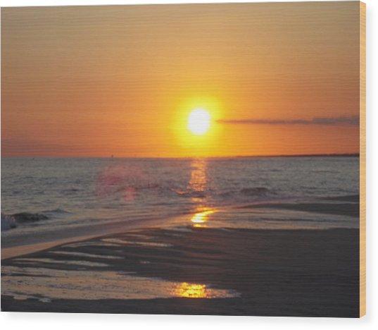 Beach #7 Wood Print