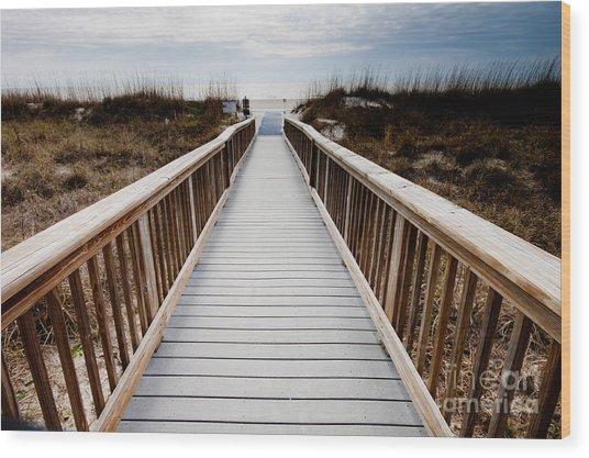 Beach Access Hilton Head Wood Print