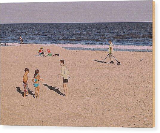 Beach Activities Wood Print
