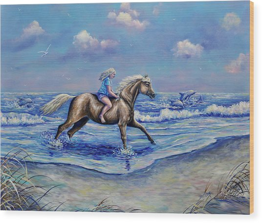 Beach Blonde Running Mates Wood Print