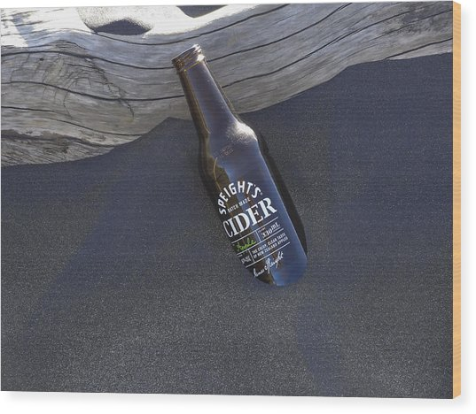 Beach Cider Wood Print by David Yack