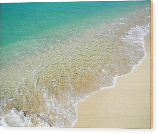 Golden Sand Beach Wood Print