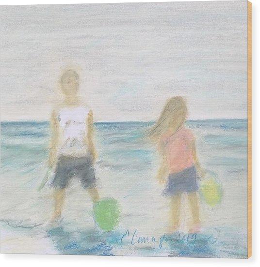 Beach Dreams Wood Print by E Carrington
