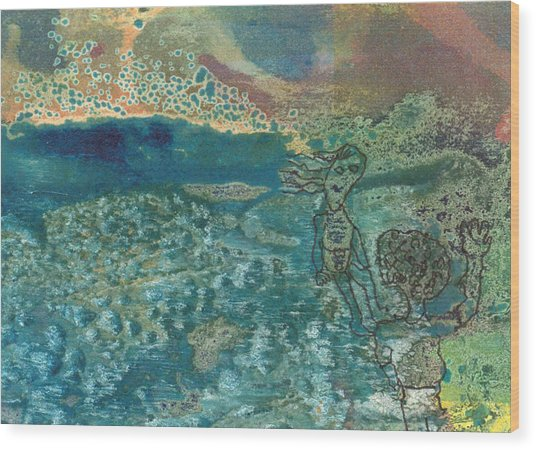 Beach Friends Flotsam And Jetsam Wood Print