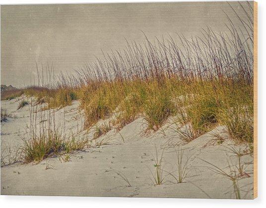Beach Grass And Sugar Sand Wood Print