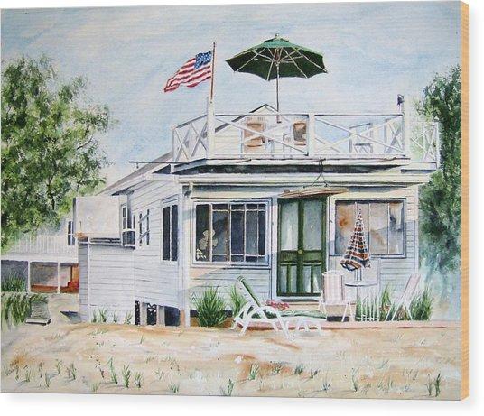 Beach House Wood Print by Brian Degnon