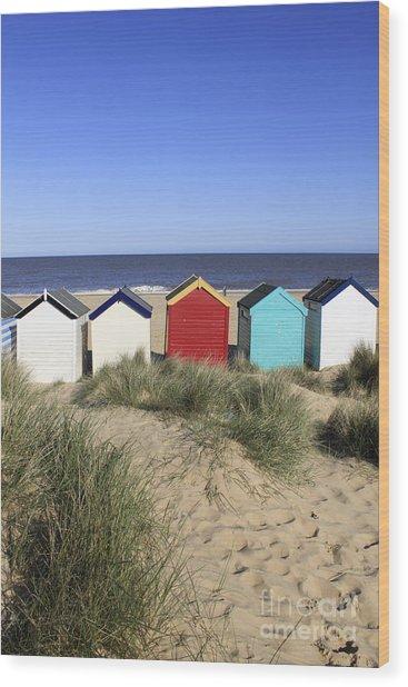 Southwold Beach Huts Uk Wood Print