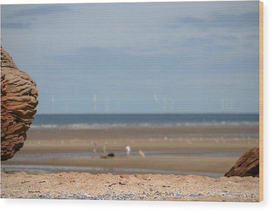 Beach Wood Print