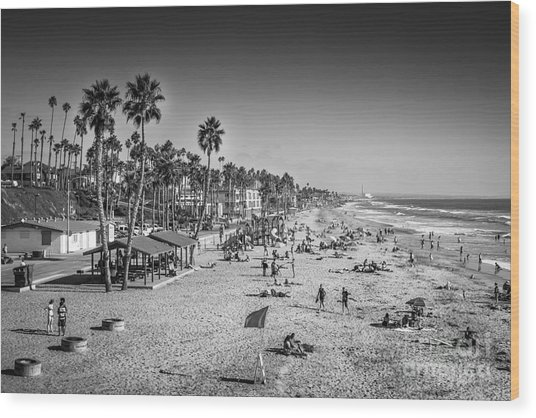 Beach Life From Yesteryear Wood Print