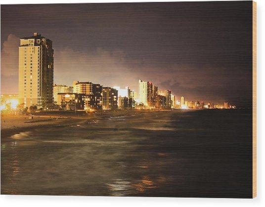 Beach Line Wood Print