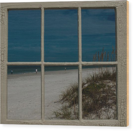 Beach Lookout Wood Print