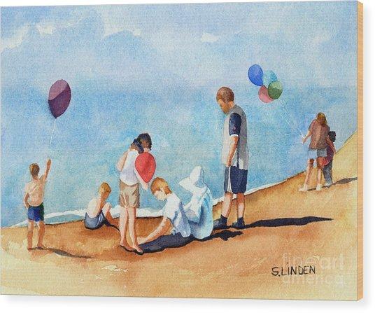 Beach Party Wood Print