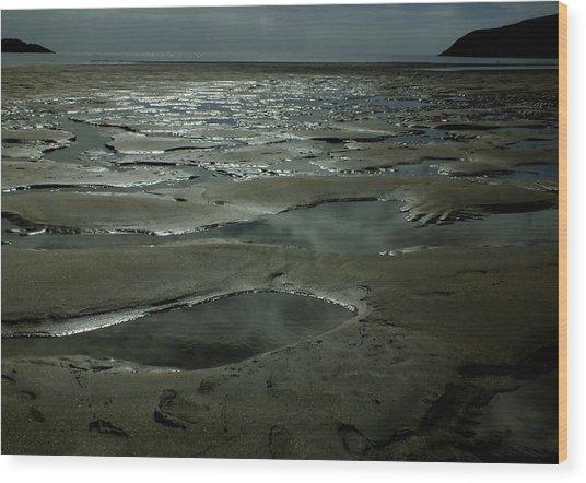 Beach Pools Wood Print by Phil Darby
