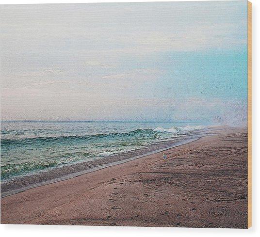 Beach Sentry Wood Print