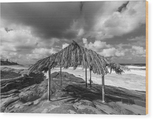 Brilliant Beach Shack Wood Print