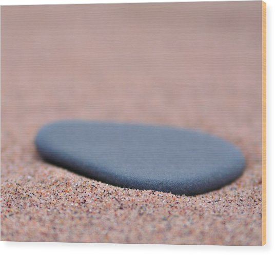 Beach Stone At Park Point Minnesota Wood Print