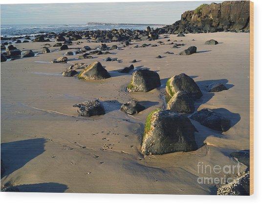 Beach Stones I Wood Print