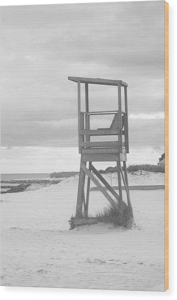 Beach Throne Harwich Ma Bw I Wood Print