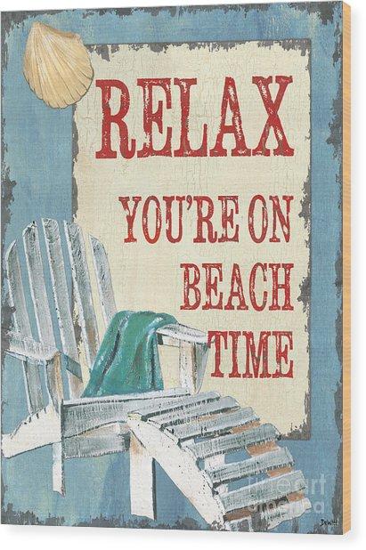 Beach Time 1 Wood Print