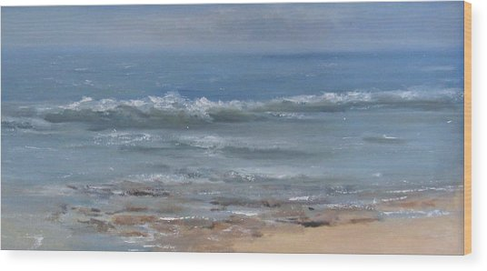 Beach Time Wood Print by Mar Evers