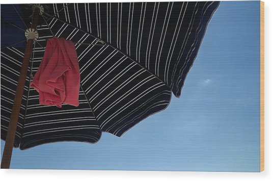 Beach Umbrella Wood Print
