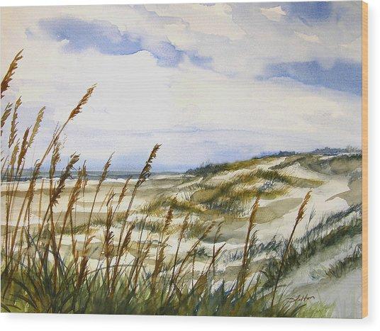 Beach Watercolor 3-19-12 Julianne Felton Wood Print