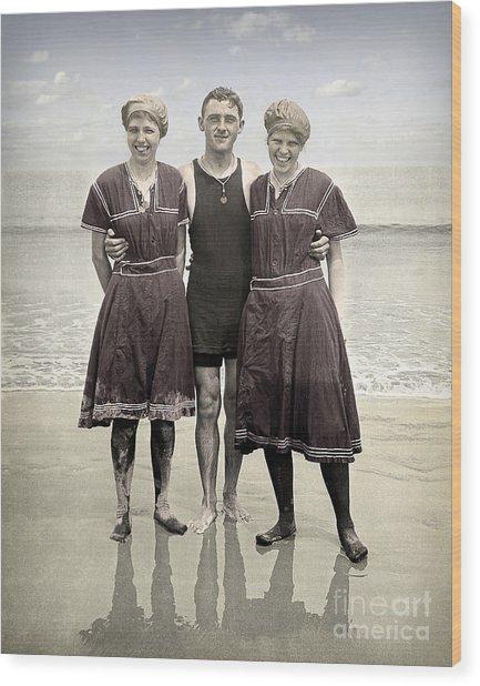 Beach Wear Fashion 1910 Wood Print
