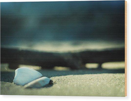 Beach Zen Wood Print