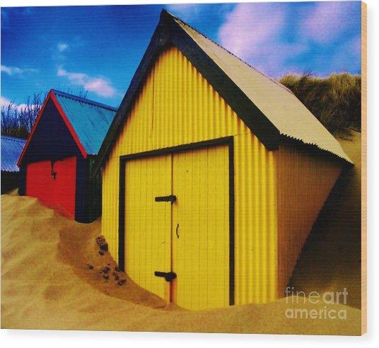 Beached Hut Wood Print