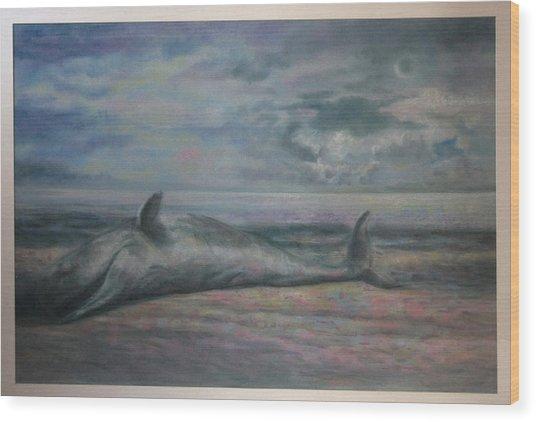 Beached Whale Wood Print