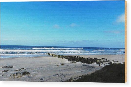 Beaches Wood Print by Yvonne Aguero