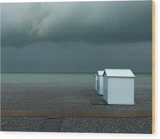 Beachhouses Wood Print by Elisabeth Wehrmann