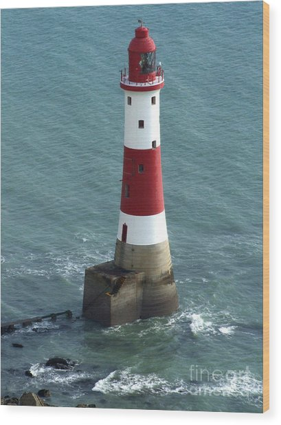 Beachy Head Lighthouse Wood Print