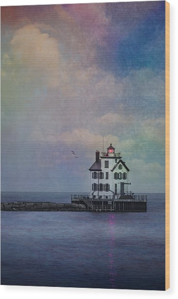 Beacon Of Light Wood Print
