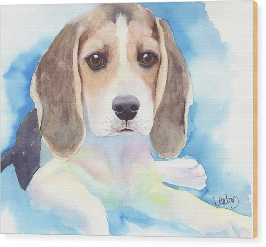 Beagle Baby Wood Print
