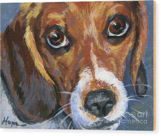 Beagle Wood Print by Hope Lane