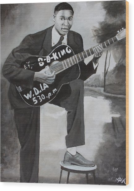 Beale Street Blues Boy Wood Print by Patrick Kelly