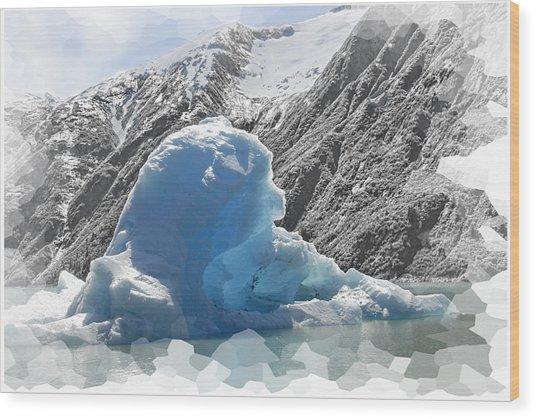 Bear Berg Wood Print