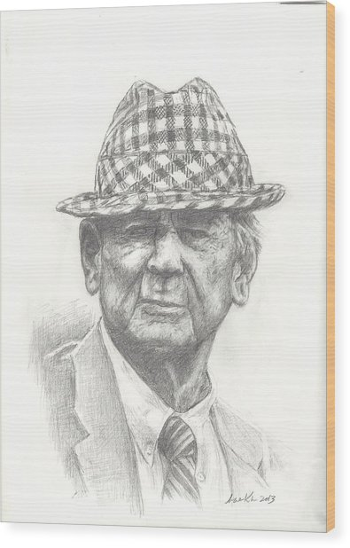 Bear Bryant 3 Wood Print