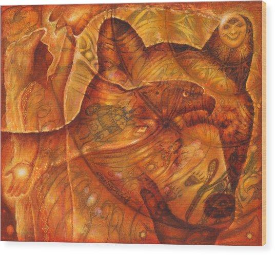 Bear Hands Wood Print