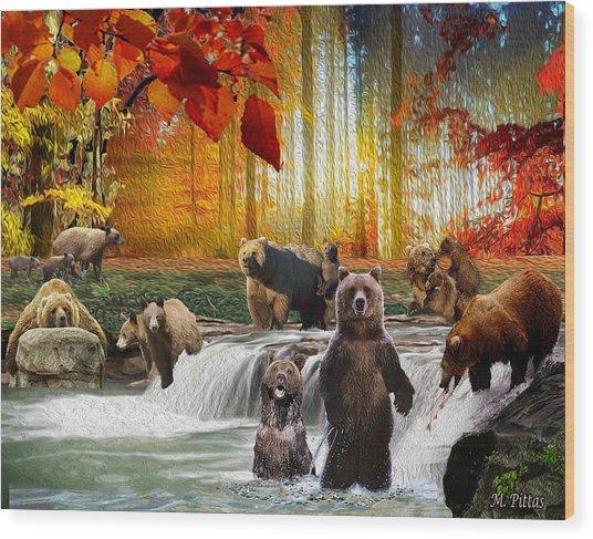 Bear Heaven Wood Print